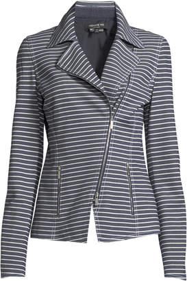 Lafayette 148 New York Julius Striped Denim Twill Jacket