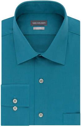 Van Heusen No Iron Lux Long Sleeve Sateen Dress Shirt- Fitted