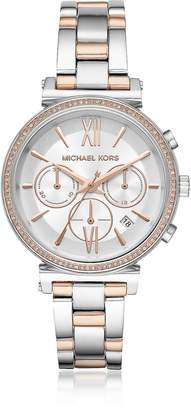 Michael Kors Sofie Pave Two-Tone Women's Watch