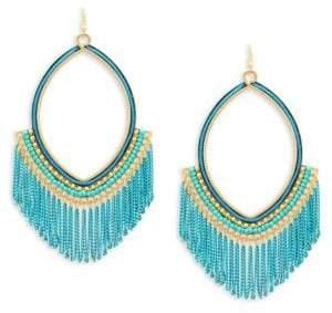 Panacea Chain Fringe Drop Earrings