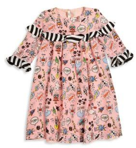 Fendi Toddler's, Little Girl's & Girl's Ruffled Space-Print Cotton Dress $750 thestylecure.com