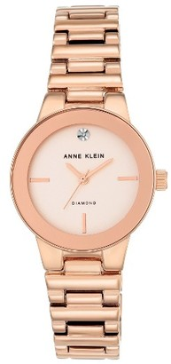 Women's Anne Klein Diamond Dial Bracelet Watch, 30Mm $75 thestylecure.com