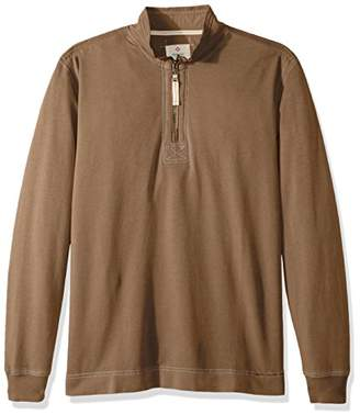 True Grit Men's Cotton Washed Heather Fleece Pullovers with Stitch Details