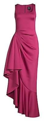 Black Halo Women's Jewel Ruffle Gown