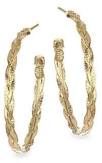 Gas Bijoux Women's Textured & Braided Brass Hoop Earrings