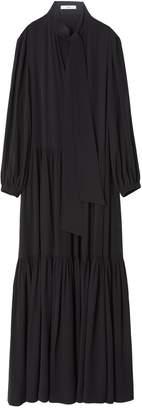 Tibi Silk CDC Tie Neck Dress