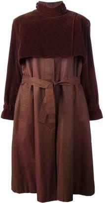Pierre Cardin Pre-Owned funnel neck coat