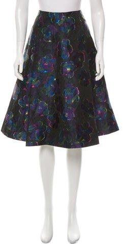 Derek Lam 10 Crosby Printed Knee-Length Skirt