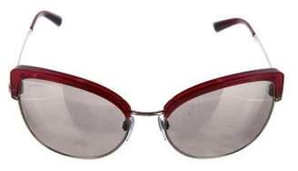 Bvlgari Cat-Eye Mirrored Sunglasses