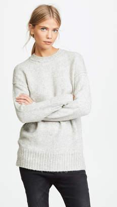 R 13 Oversized Crew Neck Sweater