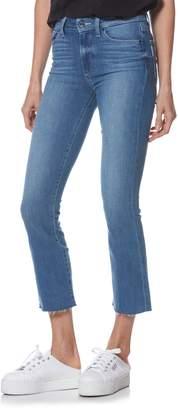 Paige Transcend Vintage - Colette High Waist Crop Raw Hem Flare Jeans