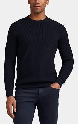 Loro Piana Men's Thermal Rib-Knit Cashmere Sweater - Navy