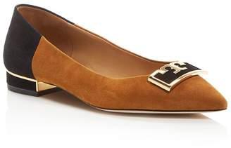 Tory Burch Women's Gigi Pointed Toe Color-Block Flats