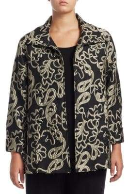 Caroline Rose Plus Paisley Cloque Jacket