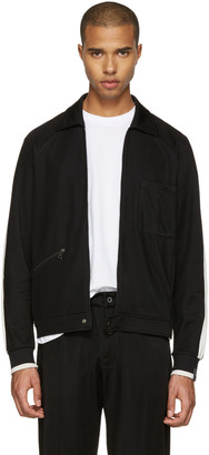 Lanvin Black Retro Track Jacket $995 thestylecure.com