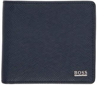 BOSS Navy Signature Wallet