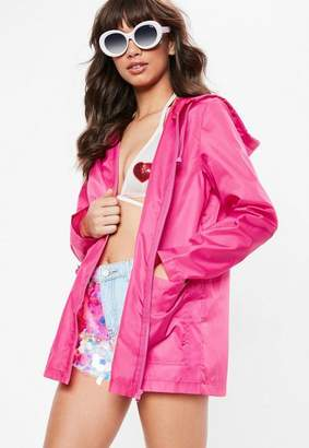 Missguided Pink Pac-A-Mac