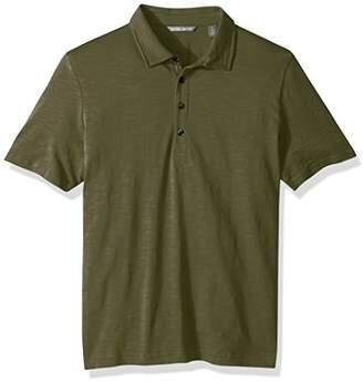 Michael Bastian Men's Signature Garment Dyed Pima Cotton Slub Self Collar Polo