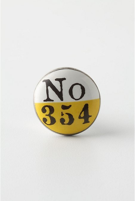 Lucky Number Knob, Yellow