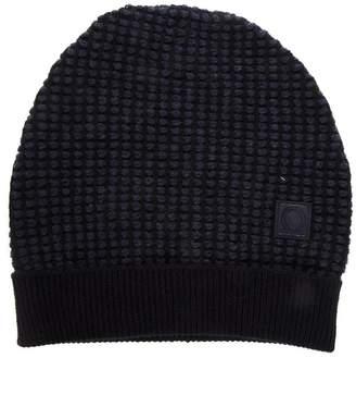 Salvatore Ferragamo Blue Gancini Hat In Leather