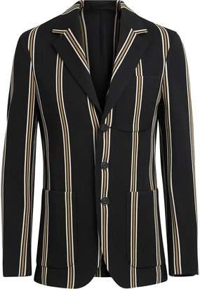 Burberry Slim fit Striped Wool Blend Club Blazer
