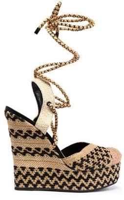 Schutz Amandinha Woven Espdarille Wedge Sandals