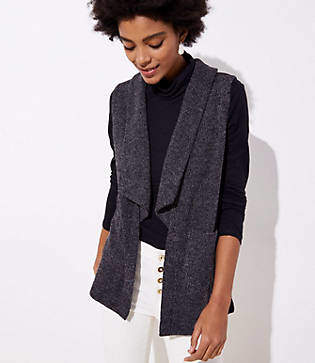 LOFT Shawl Pocket Sweater Vest