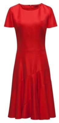 HUGO Boss -fabric dress paneled skirt 6 Red
