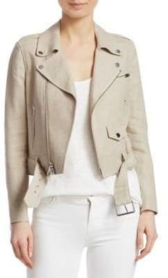 Theory Linen Moto Jacket