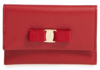 Salvatore Ferragamo Miss Vara Leather Card Case - Red $325 thestylecure.com