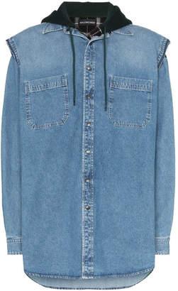 Balenciaga layered denim shirt