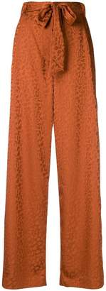 Just Cavalli abstract pattern palazzo trousers