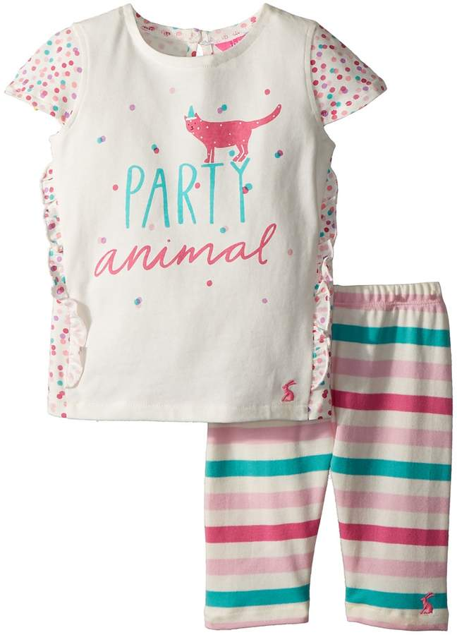 Joules Kids - Frill Top with Crop Leggings Set Girl's Active Sets