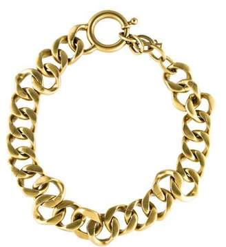 Saint Laurent Curb Chain Link Necklace
