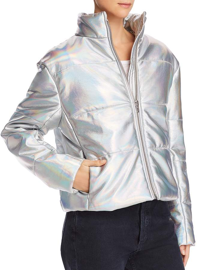 Sharpe Hologram Puffer Jacket