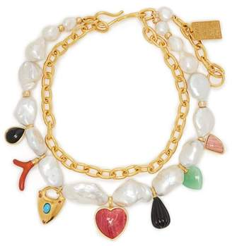 Lizzie Fortunato Positano Charm Freshwater Pearl Necklace - Womens - Pearl