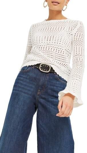 Stitchy Flute Sleeve Sweater