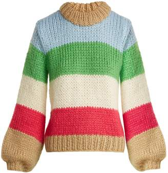 Ganni Julliard mohair and wool-blend jumper
