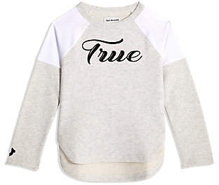 True Religion TODDLER/BIG KIDS GIRLS MESH FRENCH TERRY PULLOVER