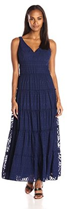 Tommy Hilfiger Women's Diamond Burnout Maxi Dress $149 thestylecure.com