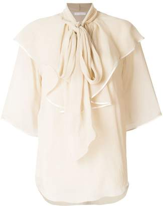 Chloé ruffled pussy bow blouse
