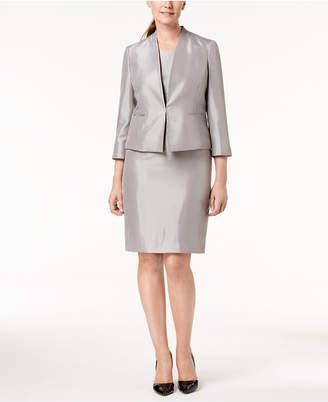 Le Suit Shiny Jacket & Sheath Dress Suit, Regular & Petite