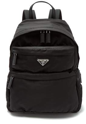 Prada Double-pocket nylon backpack