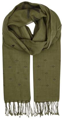 Eileen Fisher Olive Organic Cotton Scarf