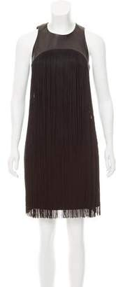 Michael Kors Wool Fringe Dress