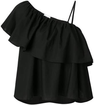 Au Jour Le Jour asymmetric ruffled top