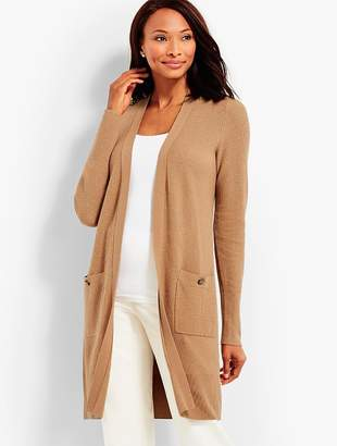 Talbots Long Military-Inspired Duster