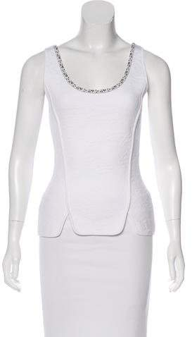 Christian Dior Jacquard Sleeveless Top
