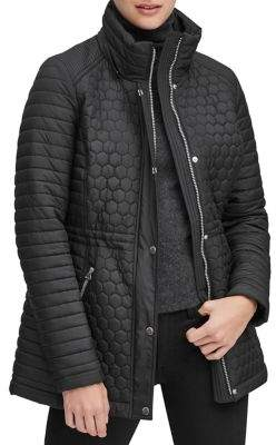 Andrew Marc Rosedale Quilted Zip Jacket