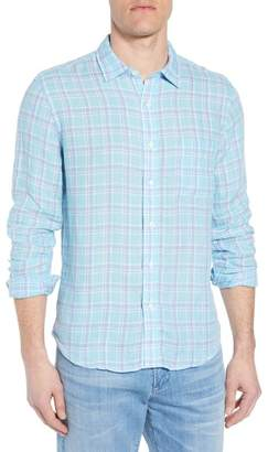 Faherty BRAND Ventura Plaid Linen Sport Shirt